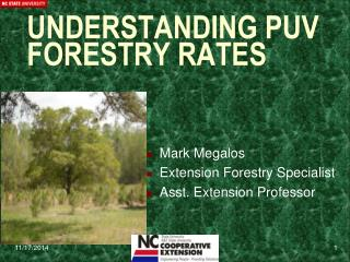 UNDERSTANDING PUV FORESTRY RATES