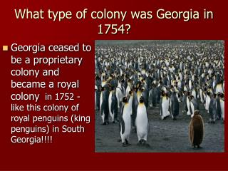 What type of colony was Georgia in 1754?