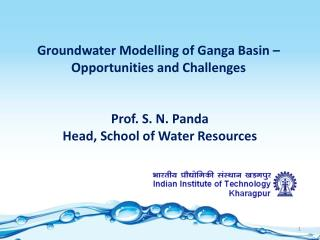 Prof. S. N. Panda Head, School of Water Resources