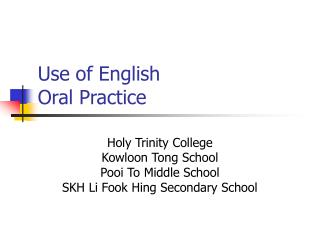 Use of English Oral Practice