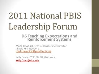 2011 National PBIS Leadership Forum