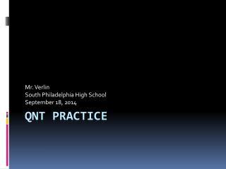 QNT Practice
