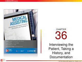 Interviewing the Patient, Taking a History, and Documentation