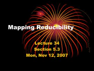 Mapping Reducibility