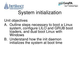 System initialization