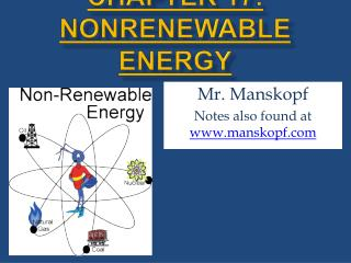 Chapter 17: Nonrenewable Energy