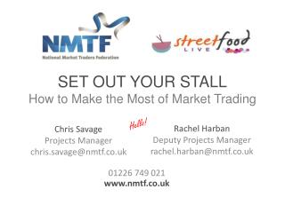 SET OUT YOUR STALL How to Make the Most of Market Trading