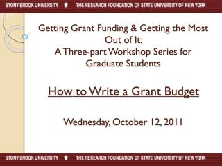 How to Write a Grant Budget Wednesday, October 12, 2011