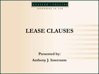 LEASE CLAUSES
