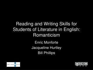 Reading and Writing Skills for Students of Literature in English: Romanticism