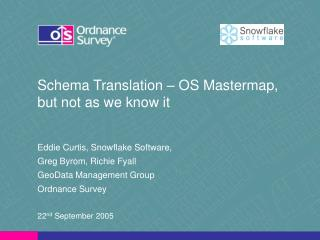 Schema Translation – OS Mastermap, but not as we know it