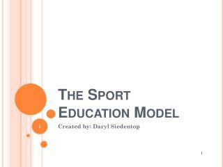 The Sport Education Model