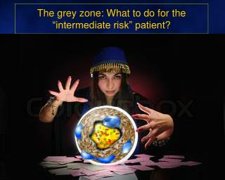 "The grey zone: What to do for the ""intermediate risk"" patient?"