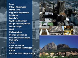 Sasol Uitkyk Adventures Money Line Hippo Boutique Hotel Intelligise Isabella's Wynberg Pharmacy