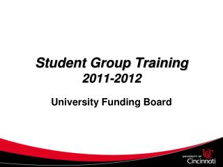 Student Group Training 2011-2012