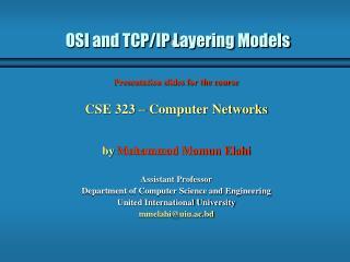 OSI and TCP/IP Layering Models