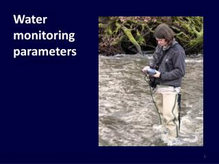 Water monitoringparameters