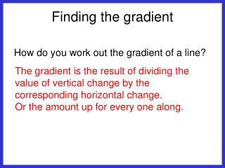 Finding the gradient