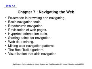 Chapter 7 : Navigating the Web