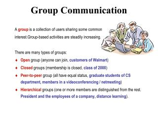 Group Communication