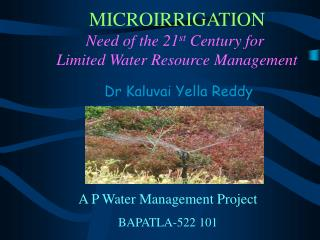 A P Water Management Project BAPATLA-522 101