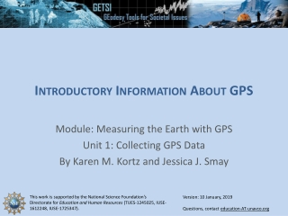 Introductory Information About GPS