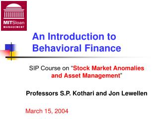 implications of behavioural finance for the efficient market hypothesis The efficient market hypothesis has been formulated now, what are the implications of behavioral finance for the markets in his 1999 article, the end of behavioral finance, published in the financial analysts journal, richard thaler offers this simple model.