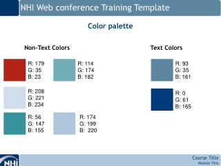 NHI Web conference Training Template