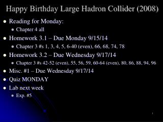Happy Birthday Large Hadron Collider (2008)