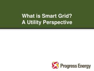 What is Smart Grid? A Utility Perspective