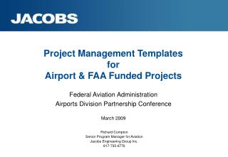 Project Management Templates  for  Airport & FAA Funded Projects