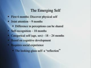 The Emerging Self