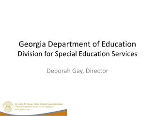 Georgia Department of Education Division for Special Education Services