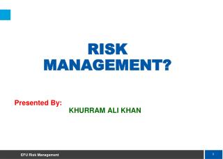 RISK  MANAGEMENT?