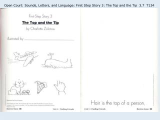 Open Court: Sounds, Letters, and Language: First Step Story 3: The Top and the Tip 3.7 T134