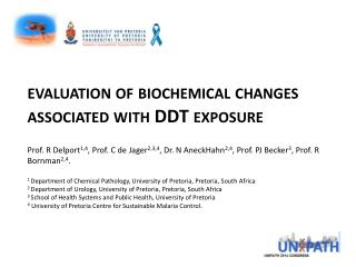 evaluation of biochemical changes associated with DDT exposure