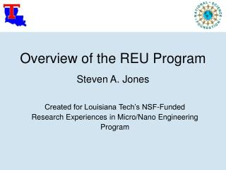 Overview of the REU Program