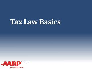 Tax Law Basics