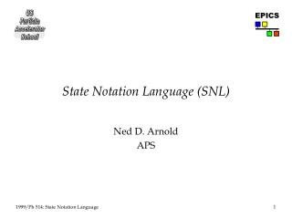 State Notation Language (SNL)