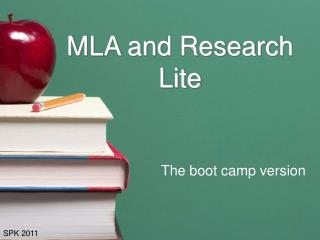 MLA and Research Lite