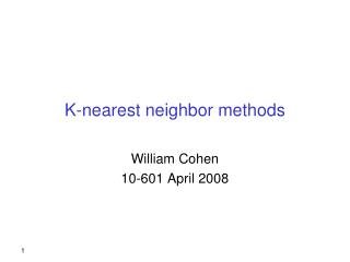 K-nearest neighbor methods