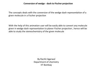 Conversion of wedge - dash to Fischer projection