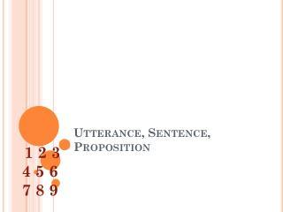 sentence and utterance