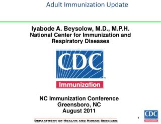Adult Immunization Update