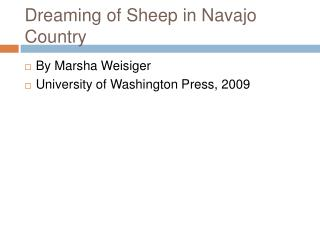 Dreaming of Sheep in Navajo Country