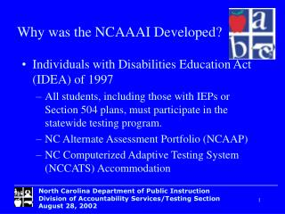 Individuals with Disabilities Education Act (IDEA) of 1997