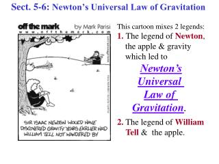 Sect. 5-6:  Newton's Universal Law of Gravitation