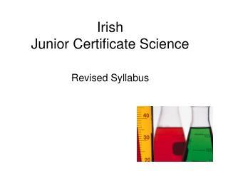Irish Junior Certificate Science