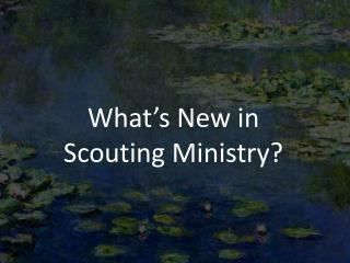 What's New in  Scouting Ministry?