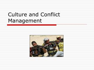 Culture and Conflict Management